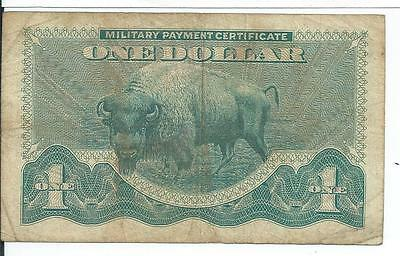 Buffalo MPC Series 692 $1 Military Payment Certificate Note #270E Fine Currency