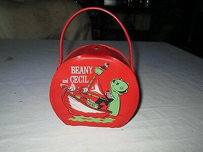 Vintage 1961 Bob Clampett Beany And Cecil Vinyl Lunchbox Purse Case