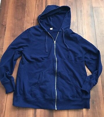 Old Navy Navy Blue Hoodie Maternity Size XL