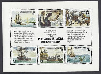1989 PITCAIRN ISLANDS BICENTENARY MINI SHEET 2nd ISSUE MINT MNH/MUH