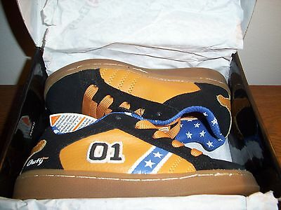 "Extra Rare ""dukes Of Hazzard"" ""general Lee"" Tennis Shoes Child's Size-12 (New)!"