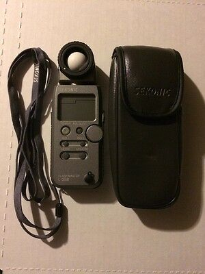 Sekonic L-358 Flash Master Meter W/ RT Module-32 And Case - Needs Battery