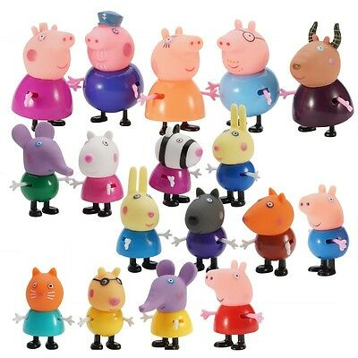 17 Pcs Peppa Pig Family&Friends Emily Rebecca Suzy Action Figures Toys Kids Gift
