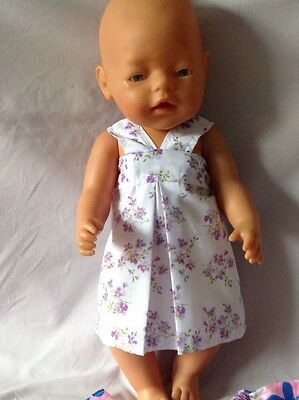 "Brand NEW Handmade Dolls Outfits - Dress For Baby Born Or Similar 16"" Doll"