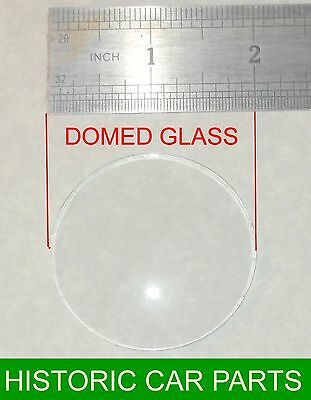 "50mm (2 "") DOMED CONVEX DASHBOARD GAUGE GLASS for TRIUMPH TR2 1953-55"