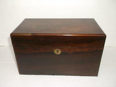 404 / Very Nice Mid 19Th Century Rosewood Veneered Tea Caddy