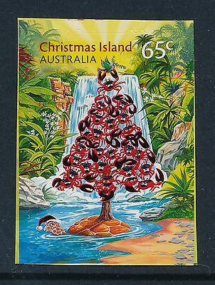 CHRISTMAS ISLAND 2015 CHRISTMAS 65c EMBELLISHED STAMP FINE MINT MNH/MUH P & S