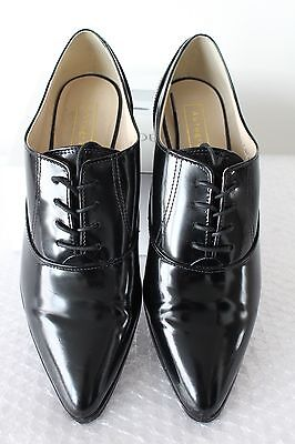 M&s Autograph Ladies Black Leather Lace Up Shoes Size 5.5  Worn Once !