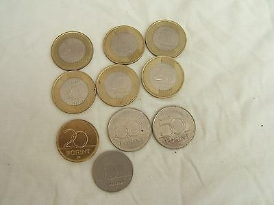 A Collection Of Hungarian Coins... 10 Coins...