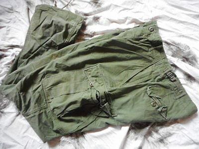 1967 US ARMY VIETNAM OG 107 2nd PATT BDU JUNGLE COMBAT TROUSERS none ripstop M L