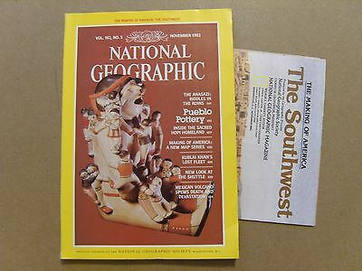 National Geographic Magazine - November 1982 -America The Southwest Map Included
