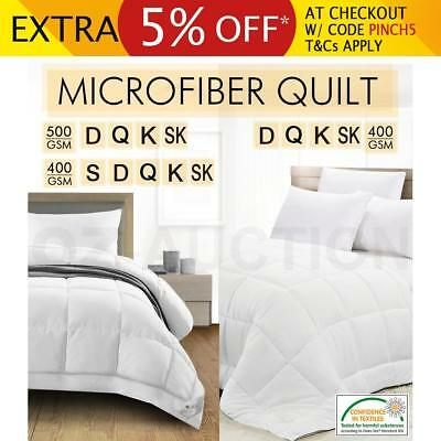 400/500GSM Microfibre Cover Quilt Bamboo Fiber Filled Microfiber Winter All Size