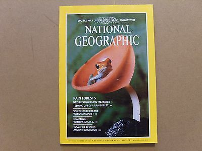 National Geographic Magazine - January 1983 - See Images For Contents