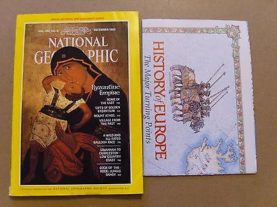 National Geographic Magazine - December 1983 - History Of Europe Map Included