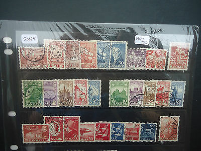 Denmark 1949-63 Commemoratives (55v) (SG Between 374-456) Used