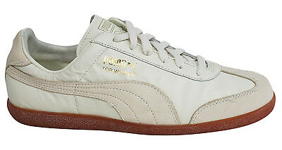 Puma Top Winner Vintage Lace Up Mens Whisper White Trainers 348421 01 D2 1d93bae11