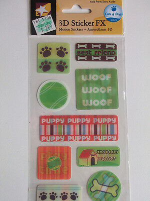 American Traditional 3D Fx Motion Stickers - Dogs