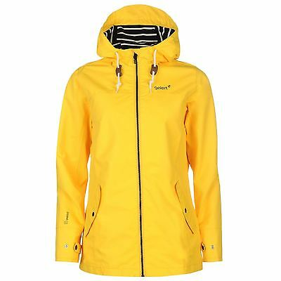 Gelert Womens Coast Jacket Top Coat Waterproof High Neck Hooded Full Zip