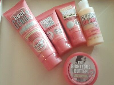 soap and glory lot feet hand butter scrub shower all new 5 items