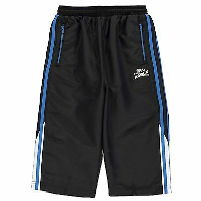 Lonsdale Kids Two Stripe Three Quarter Pants Trousers Bottoms Junior Boys