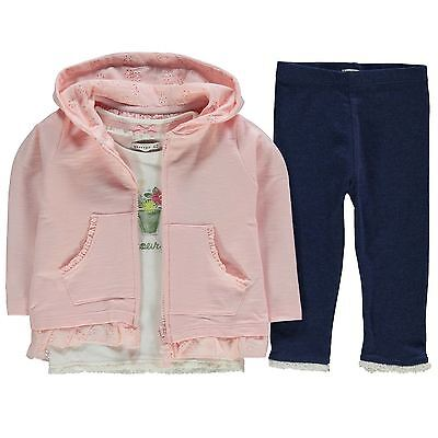Crafted Kids Three Piece Fashion Jogging Set Infant Girls Long Sleeve Floral
