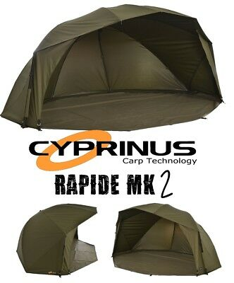 "Cyprinus™ Rapide MK2 55"" 20,000HH Carp Fishing Brolly Umbrella Shelter Bivvy"