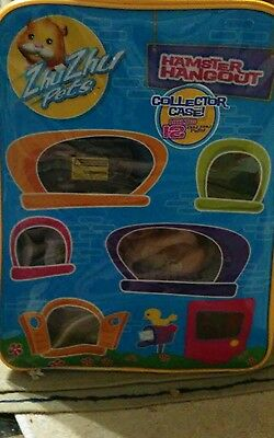 Zhu Zhu Pet Collection  & Accessories LOT Hamster Hangout Case Holds 12 Only Com