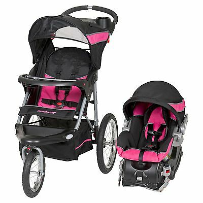 Baby Trend Expedition Travel System Folding Jogging Stroller, Bubble Gum