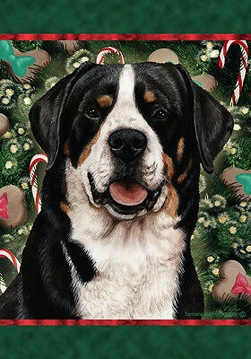 Large Indoor/Outdoor Holiday Flag - Greater Swiss Mountain Dog 14144
