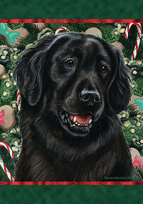 Large Indoor/Outdoor Holiday Flag - Flat-Coated Retriever 14079