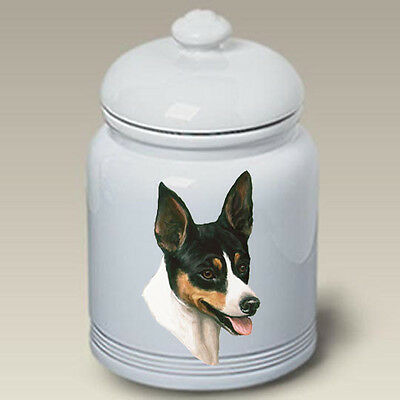 Ceramic Treat Cookie Jar - Rat Terrier (LP) 45130