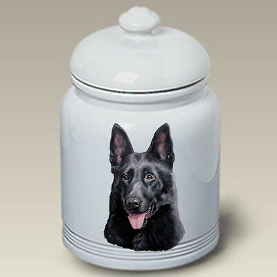 Ceramic Treat Cookie Jar - Black German Shepherd (LP) 45091
