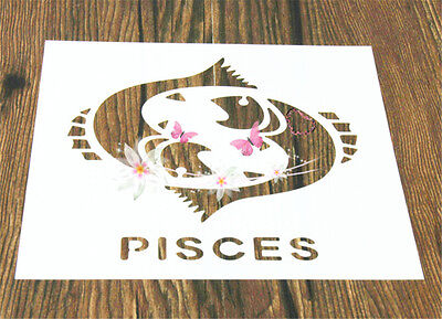 2 Pcs Packed Pisces Cookie Cake Stencil Decorate Mold Fondant Biscuit Tool
