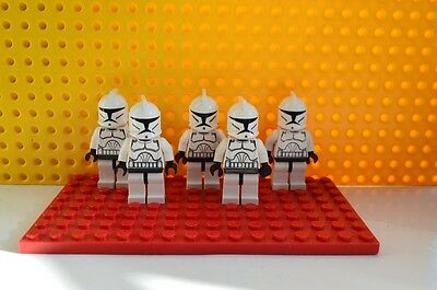 Genuine LEGO Star Wars Mini-Figures - 5 x Clone Troopers