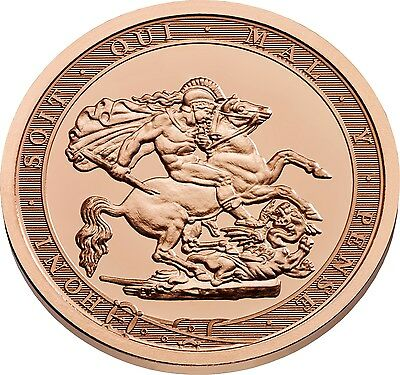 2017 Struck on the Day Pistrucci Gold Full Sovereign Coin - Plain Edge