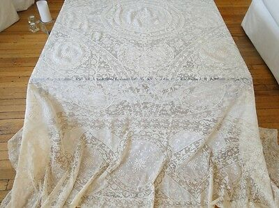 Antique Lace-Circa 1920, Ornate French Normandy Bedspread