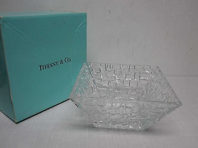 "TIFFANY & CO SIERRA 9"" SQUARE BOWL with BOX"