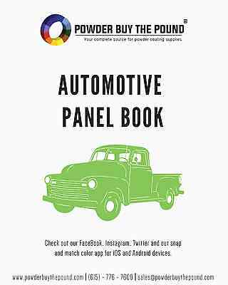 Powder Coating Sample Panel Book - Automotive Colors - 21 Sample Panels