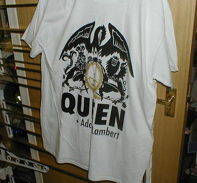 Queen + Adam Lambert Uk + European Rare Tour T-Shirt Large, Official