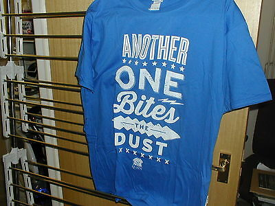 Queen Another One Bites The Dust Rare Royal Blue Official T-Shirt. Xl