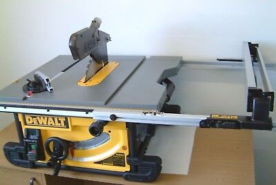 DeWALT DWE7491 250mm Portable table saw 825mm rip capacity 110v