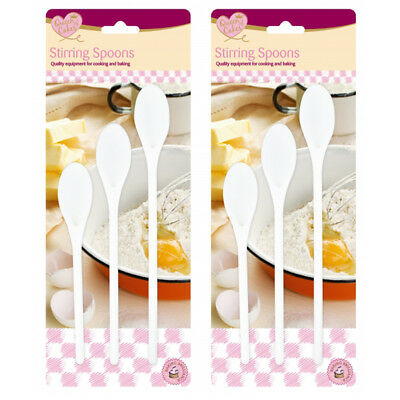 2x Queen Of Cakes Set Of 3 Stirring Mixing Spoons Baking Cooking Spoon Stirr Mix