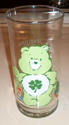 Good Luck Care Bear VTG 1983 Pizza Hut Collectible Glass Tumbler ST PATTY'S DAY!