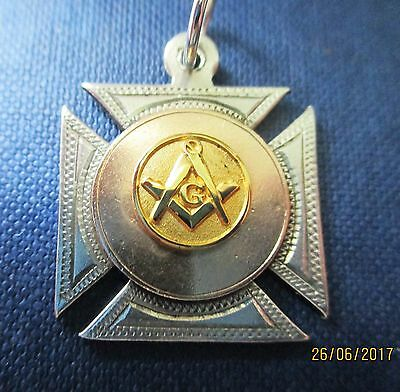 Antique Solid silver & gold Masonic watch Fob/pendant.1917