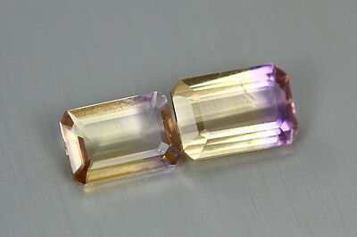 3.395 Cts Amazing Finest Unbelievable Quality Hi-End Natural Ametrine Aaa 2-Pcs!
