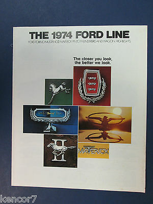 1974 Ford Full Line Sales Brochure C7616