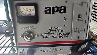 APA 36V DC 20 Amp Automatic Battery Charger Model 12050 395101 for Golf Carts
