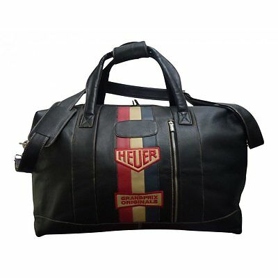 Grandprix Originals Vintage Heuer Leather Travelbag Small Size
