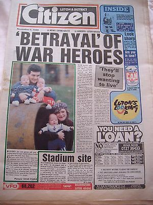 Vintage Luton and District Citizen Newspaper -  November 9th 1989