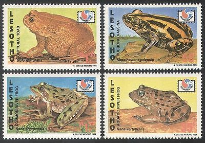 Lesotho 1994 Frogs/Toads/Amphibians/Nature/Animals/Wildlife 4v set ref:n16531